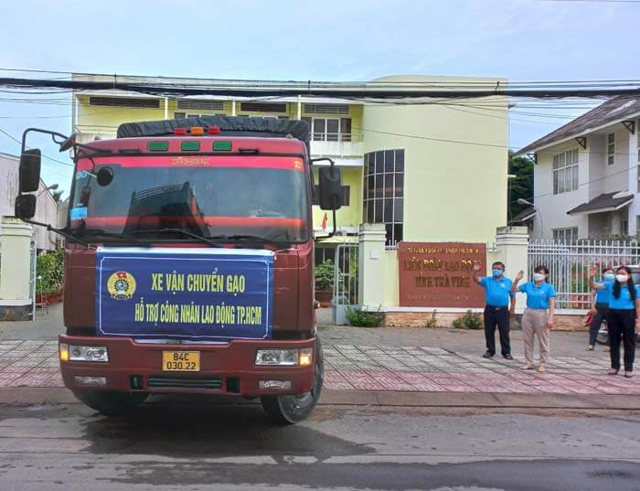 Tiếp tục chuyến xe thứ 2 vận chuyển 19 tấn gạo hỗ trợ công nhân lao động TP. Hồ Chí Minh