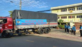 Liên đoàn Lao động tỉnh Trà Vinh: 15 tấn hàng hóa nông sản hỗ trợ Liên đoàn Lao động TP. Hồ Chí Minh