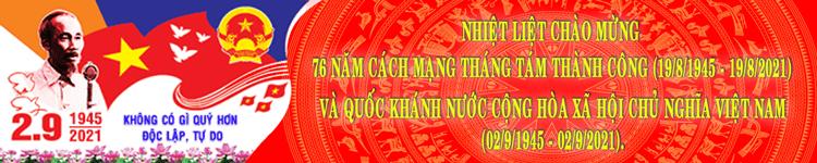 Banner Tuyên truyền CMT8 và Quốc khánh 2-9-2021
