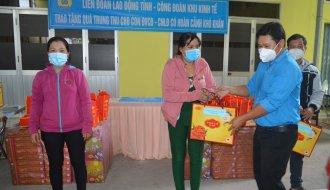 Công đoàn Khu Kinh tế tỉnh Trà Vinh: Trao tặng 450 phần quà Trung thu cho con đoàn viên công đoàn, công nhân lao động có hoàn cảnh khó khăn