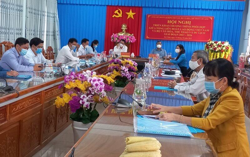 Tổng Liên đoàn Lao động Việt Namvà Bộ Văn hoá, Thể thao và Du lịch ký kết chương trình phối hợp giai đoạn 2021 – 2026